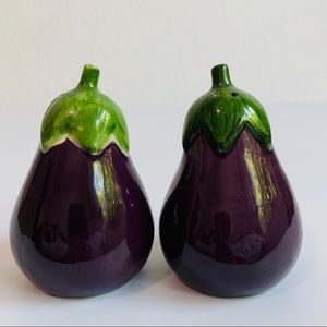 Eggplant Salt & Pepper Shakers